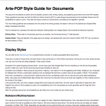 On the Arts-POP project, having hundreds of documents from multiple authors could have easily snow-balled into a quagmire of disparate styles and post-production. I designed a style guide to ensure as much consistency and as little post-production as possible as often Word documents made their way to both HTML and PDF formats.