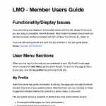 Member User Guide for a private Qld Gov't social network site.